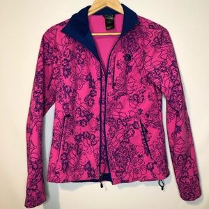 The North Face Pink Blue Floral Jacket Women Small